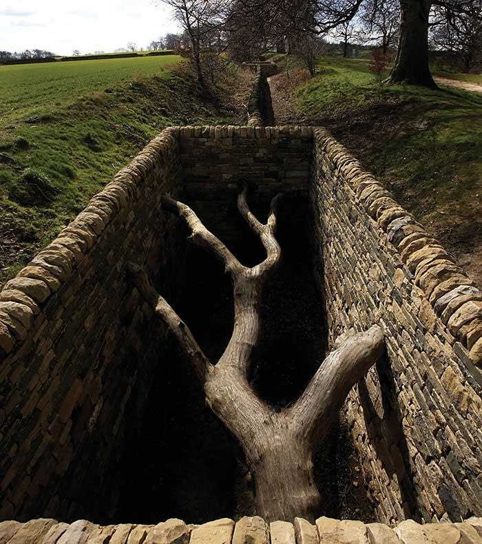'Hanging Trees' (2007) by Andy Goldsworthy. Courtesy the artist and Yorkshire Sculpture Park/ Photo: Jonty Wilde
