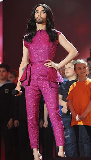Conchita Wurst, who triumphed in 2014 Eurovision