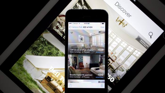 Airbnb on a smartphone and a tablet