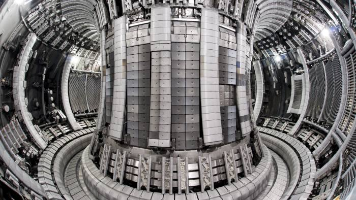 Interior view of the Jet Vacuum Vessel following completion of the EP2 Iter like wall shutdown - May 2011 Interior of JET showing the new 'ITER-like' wall of beryllium and tungsten. CREDIT:EUROfusion