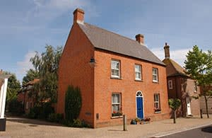 Red brick house in Poundbury