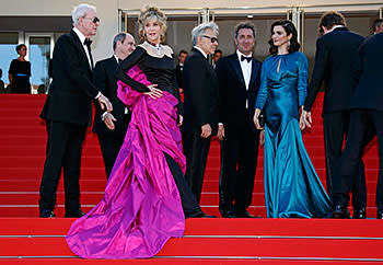 The cast of 'Youth' (left to right: Michael Caine, Jane Fonda, Harvey Keitel, director Paolo Sorrentino and Rachel Weisz)