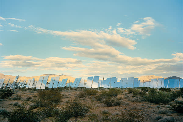 The Ivanpah plant in the Mojave desert