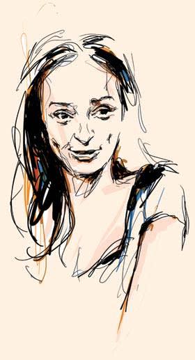 Illustration by Seb Jarnot of Isabel dos Santos