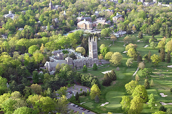 Aerial view of Princeton in New Jersey