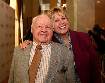 Mickey Rooney with his wife Jan at an American Film Institute luncheon in 2006