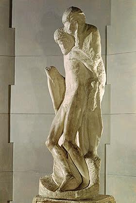 One of his final works, 'Rondanini Pietà' (1564)