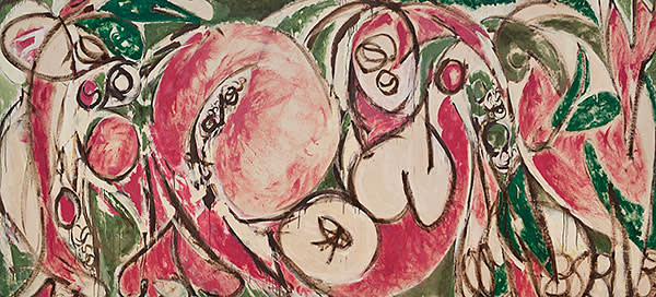 'The Seasons' (1957) by Lee Krasner, on show at New York's Whitney Museum, is by one of the female Abstract Expressionists undervalued until recently