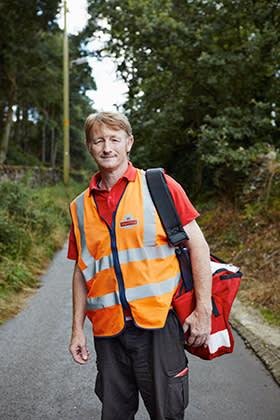 Howard Booth, postman