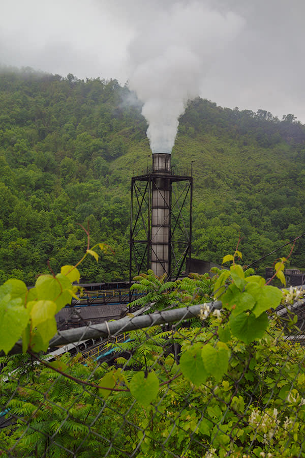 A coal-processing site in Grundy, Buchanan County