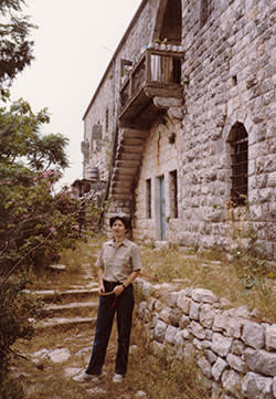 A young Anissa Helou at her father's ancestral home in al-Dar