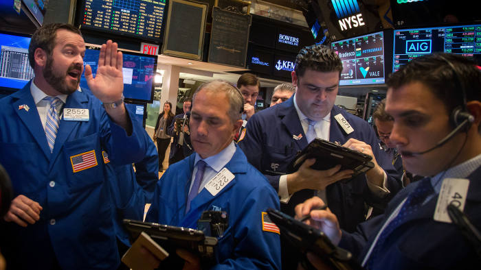 We are all 'algos' now: traders at work in the New York Stock Exchange in May