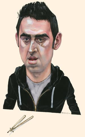 Illustration of Ronnie O'Sullivan by James Ferguson