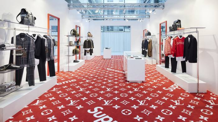 A Louis Vuitton-Supreme men's pop-up store in London © Stephane Muratet