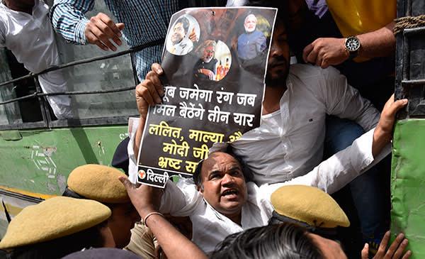 Public protests against Mallya, New Delhi, March 2016