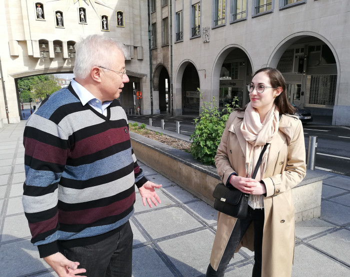 Europe Talks project: 'We should cooperate with Russia when Putin is no longer there' says Lutz Sparmann, a German retiree who disagreed with Christiane Hitrova, a Bulgarian research assistant living in London, about how involved Russia should be in Europe's future. Picture; Alice Kantor/FT