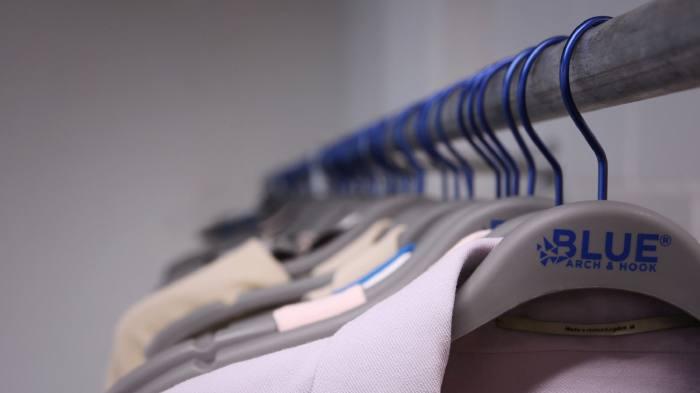 Designer Roland Mouret's eco-hangers