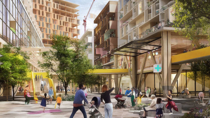 Images of proposed Smart City by Sidewalk Labs in Toronto from their press site - Quayside Pedway