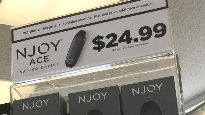 Numerous vaping devices and pods can be found at drug stores and gas stations. Devices like the NJoy resemble a USB flash drive.Vaping Njoy Pods