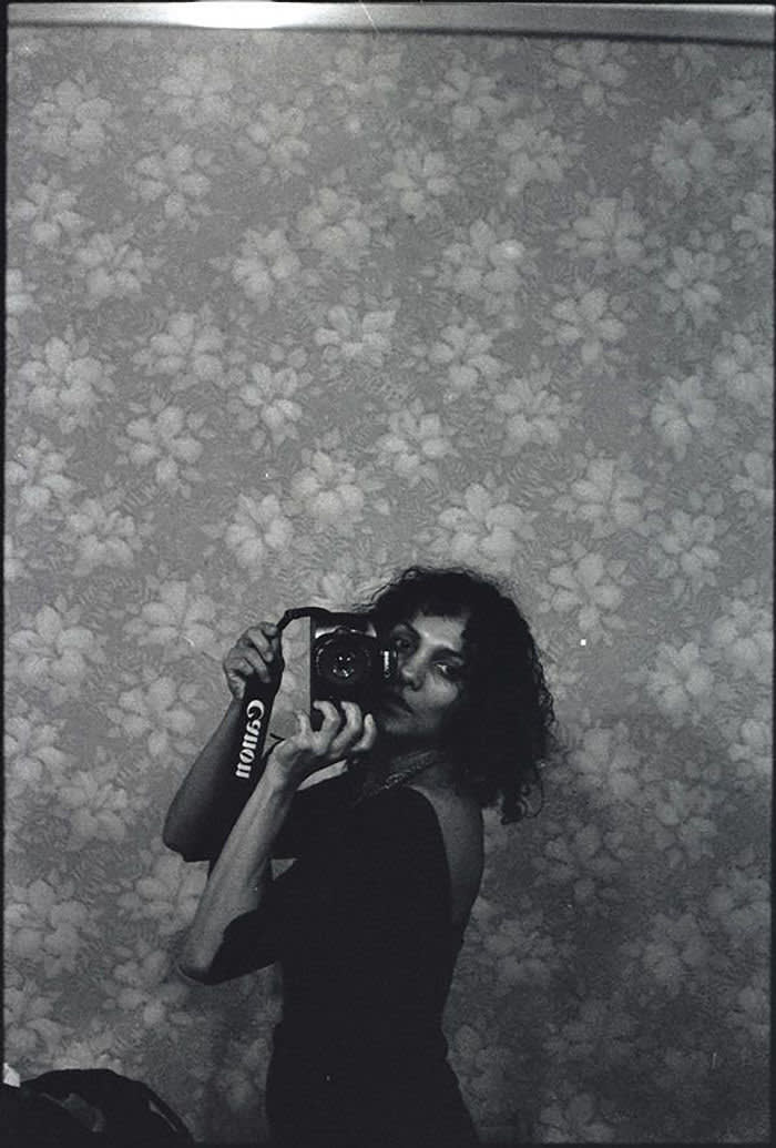 Ming Smith, Untitled (Self-Portrait with Camera), New York, NY, 1975, gelatin silver print, 50.5 × × 40.5 cm, Courtesy of Jenkins Johnson Gallery