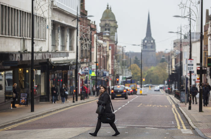 Street Scenes in the City centre of Wolverhampton UK. 31/10/19.Photo Tom Pilston.