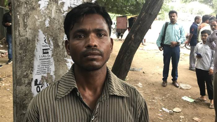 India Jobless Story (Amy) Krishna Kumar, 32, from the Hardoi in Uttar Pradesh, was laid off in early August from auto components factory making brakes for Maruti.