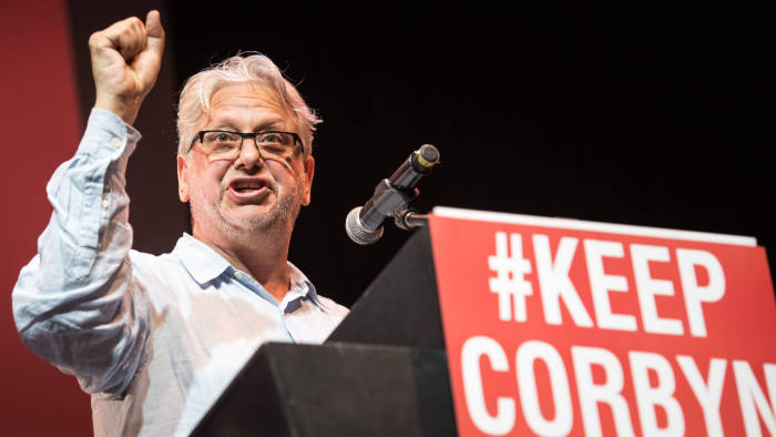 P23WBW The Troxy, 490 Commercial Road, London, July 6th 2016. Jon Lansman, a close Corbyn ally and founder of the Momentum campaign group, delivers a speech