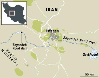 Iran water map