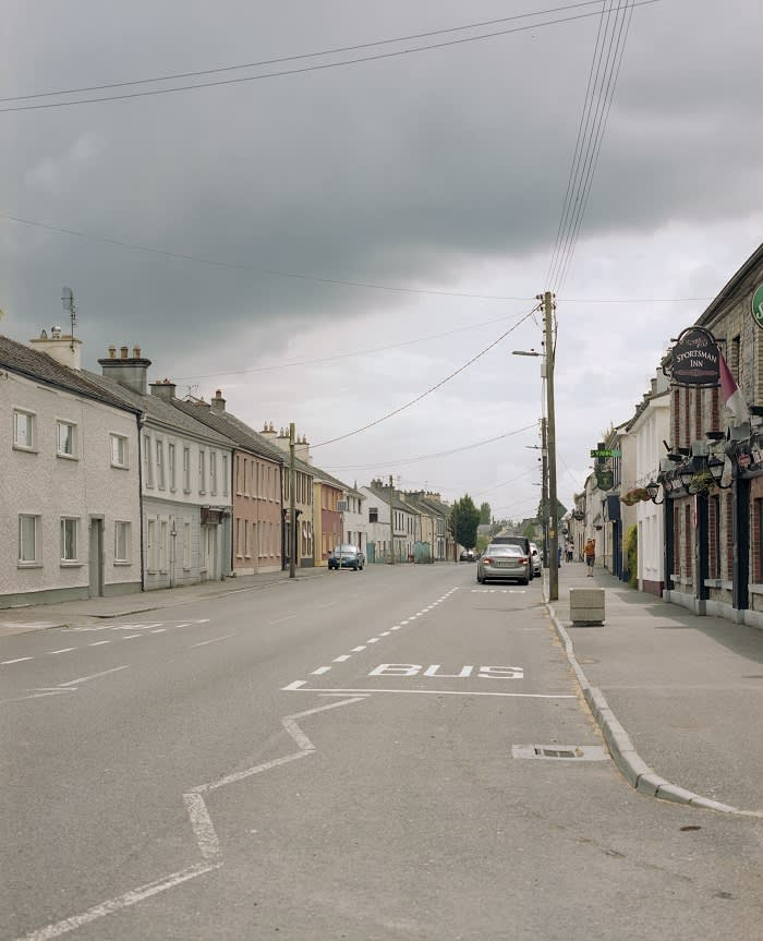 The main street in Daingean, which has never recovered from the 2008 financial crash, exacerbating worries in the community about redundancies at Bord na Móna