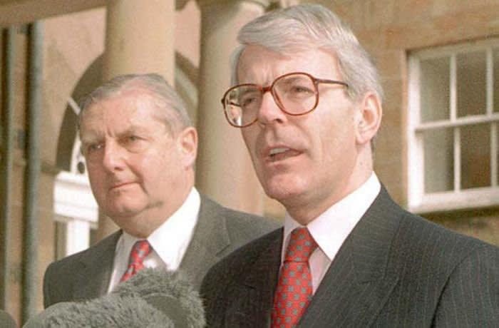 John Major with then Northern Ireland secretary Patrick Mayhew
