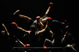 Dancers at a 'Boxe Boxe' performance