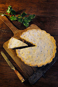 A pie made with sweet mincemeat and lamb