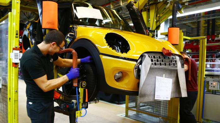 Bmw To Shut Uk Mini Car Plant For Month After Brexit Financial Times