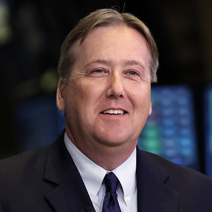 Ingersoll Rand CEO Michael W. Lamach is interviewed before ringing the New York Stock Exchange closing bell, Monday, April 29, 2013. (AP Photo/Richard Drew)