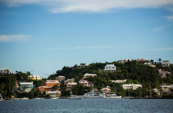 HAMILTON, BERMUDA - NOVEMBER 8: A view of the building that houses the Appleby law firm offices, November 8, 2017 in Hamilton, Bermuda. In a series of leaks made public by the International Consortium of Investigative Journalists, the Paradise Papers shed light on the trillions of dollars that move through offshore tax havens. (Drew Angerer/Getty Images)
