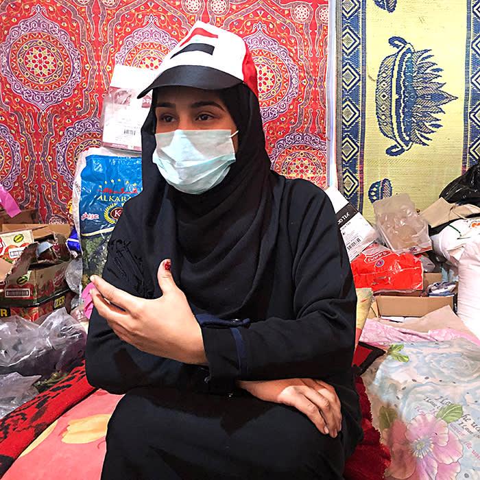 IRAQ Hijran - Iraq Iraqui 18 year old interviewed by Chloe Cornish for FT Arab Voices series