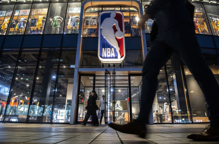 BEIJING, CHINA - OCTOBER 09: The NBA flagship retail store is seen on October 9, 2019 in Beijing, China. The NBA is trying to salvage its brand in China amid criticism of its handling of a controversial tweet that infuriated the government and has jeopardized the league's Chinese expansion. The crisis, triggered by a Houston Rockets executives tweet that praised protests in Hong Kong, prompted the Chinese Basketball Association to suspend its partnership with the league. The backlash continued with state-owned television CCTV scrapping its plans to broadcast pre-season games in Shanghai and Shenzhen, and the cancellation of other promotional fan events. The league issued an apology, though NBA Commissioner Adam Silver angered Chinese officials further when he defended the right of players and team executives to free speech. China represents a lucrative market for the NBA, which stands to lose millions of dollars in revenue and threatens to alienate Chinese fans. Many have taken to China's social media platforms to express their outrage and disappointment that the NBA would question the country's sovereignty over Hong Kong which has been mired in anti-government protests since June. (Photo by Kevin Frayer/Getty Images)
