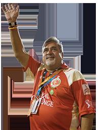 Vijay Mallya at the Royal Challengers Bangalore IPL match, October 2009