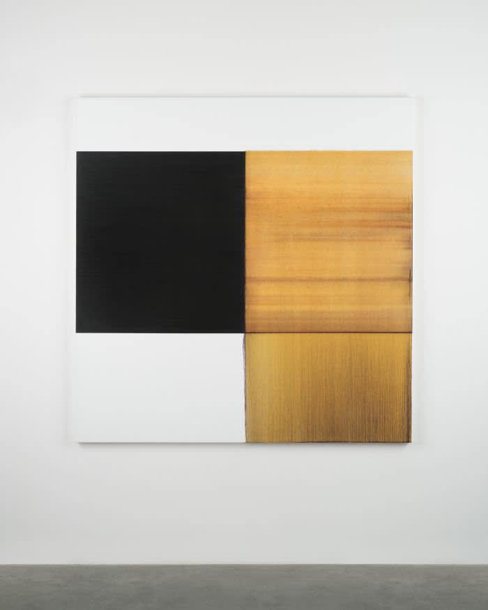 'Exposed Painting Quinacridone Gold' by Callum Innes