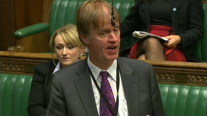 Labour MP Stephen Timms speaks in the House of Commons, London, during an EU referendum bill debate.