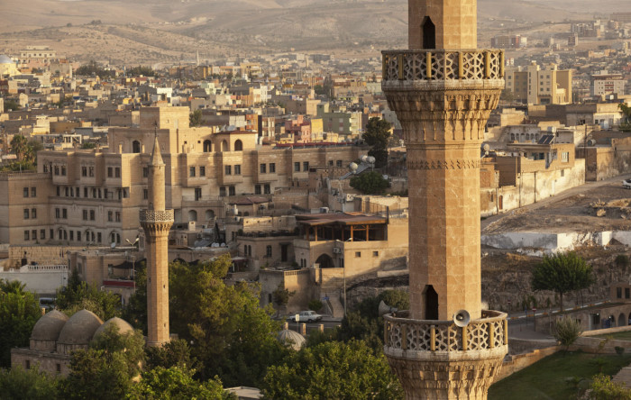 Cityscape of Sanliurfa Turkey, Minarets in view credit Getty Images