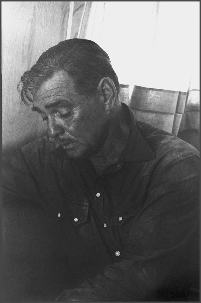 USA. Nevada. Clark GABLE during the filming of