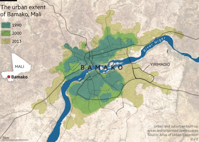 Graphic show that Bamako in Mali is one of the fastest growing cities