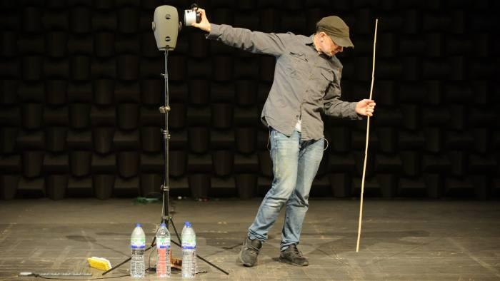 Simon McBurney in 'The Encounter'. Photo: Jane Hobson