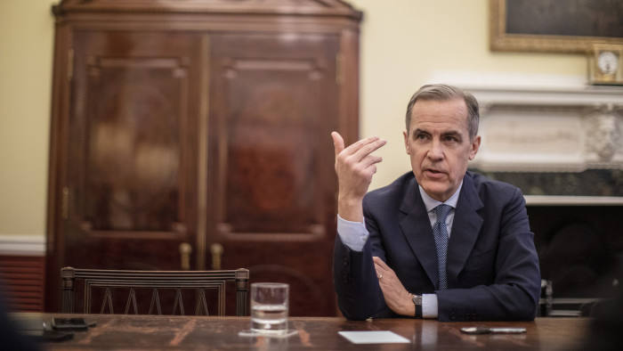 07/01/2020 Mark Carney, Governor of the Bank of England. Photographed in his office today during an interview with the FT.