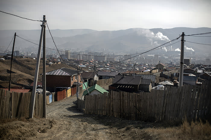 Ulan Bator is one of the world's most polluted capital cities as many residents burn coal to keep warm