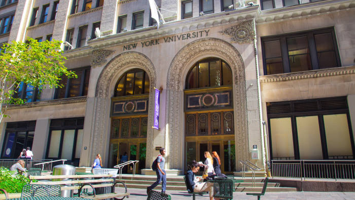 NEW YORK CITY - SEPT 13, 2013: Kaufman Management Ctr. at Stern of New York University in Manhattan. The Stern School at NYU is one of the oldest and most prestigious business schools in the world.; Shutterstock ID 172330619; Department: -; Job/Project: -; Employee Name: -