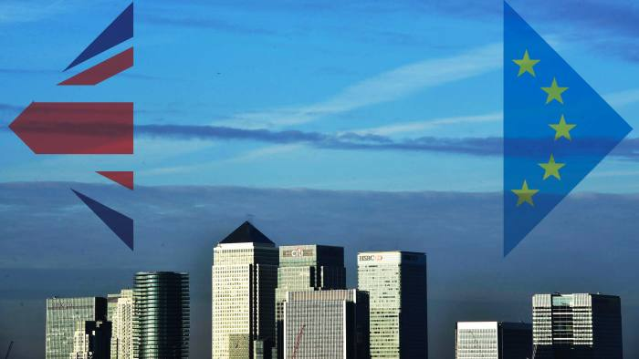 Financiers at the World Economic Forum have been discussing plans for transferring chunks of their London operations out of the UK