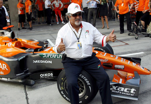 Vijay Mallya bought the Spyker Formula One team as part of a consortium in 2007
