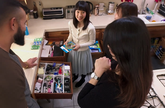 Marie Kondo during her Netflix series, 'Tidying Up With Marie Kondo'